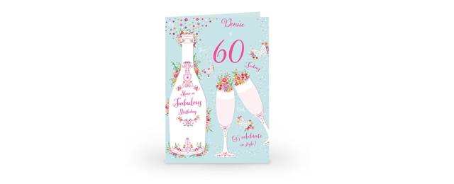 Its Time To Celebrate Their 60th Birthday With A Unique Personalised Card Created Just For Them